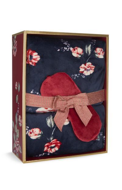 Floral Navy Pyjama Gift Box