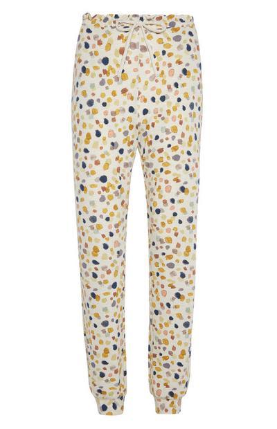 Cuff Leg Oatmeal Jersey Trousers