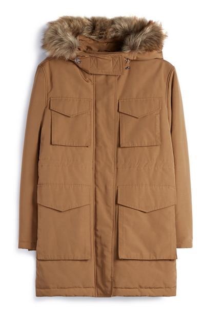 Camel Parka Coat