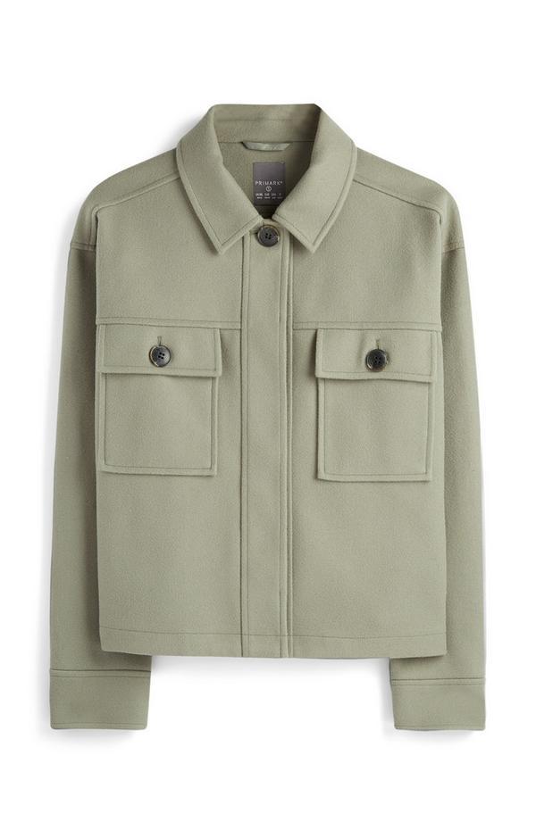 Green Pocket Shacket