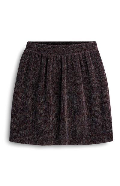 Older Girl Purple Glittery Skirt