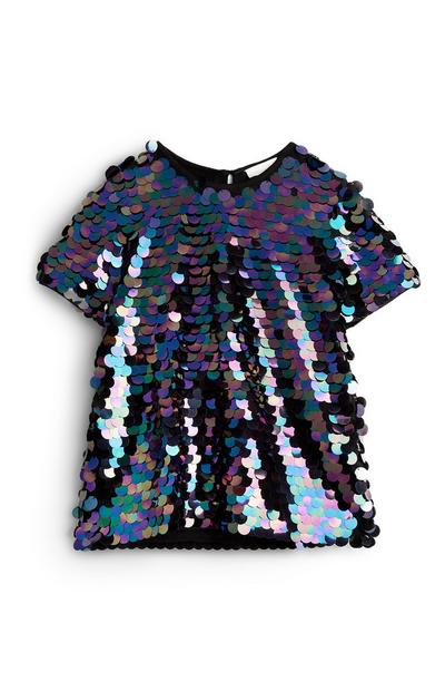 Older Girl Large Sequin Blouse