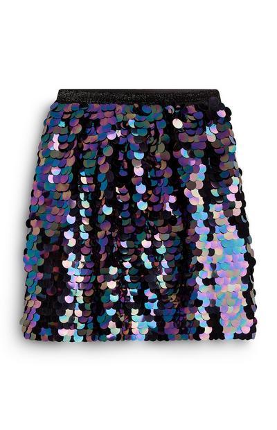 Older Girl Large Sequin Skirt