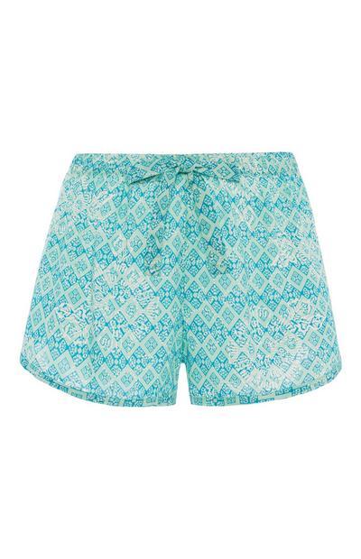 Aqua Pattern Pyjama Short