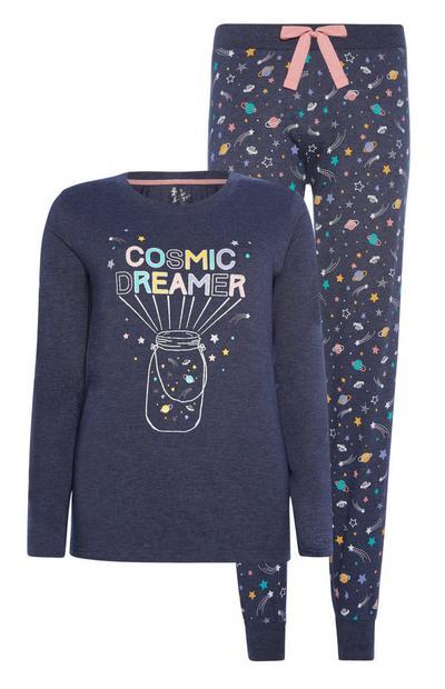 Planet Print Pyjamas 2Pc