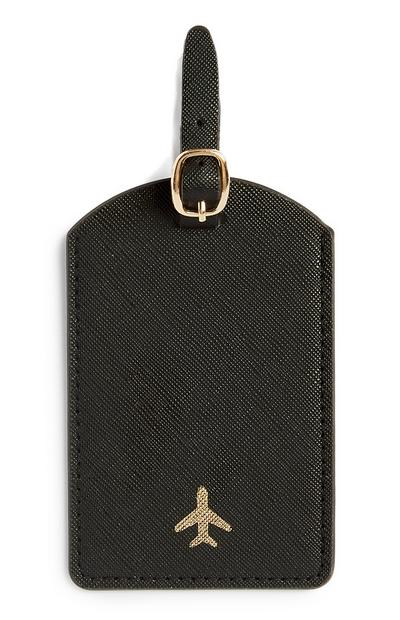 Black Luggage Tag