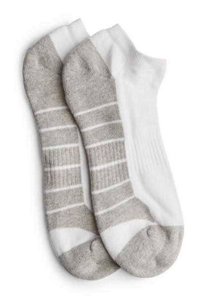 White Trainer Socks 5Pk