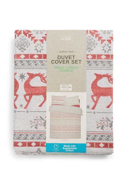 Christmas Fairisle Double Duvet Set