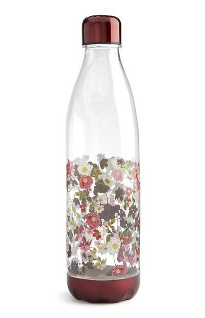 Red Floral Printed Bottle