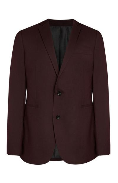 Plum Plain Stretch Suit Jacket
