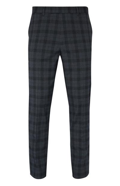 Charcoal Check Suit Trousers