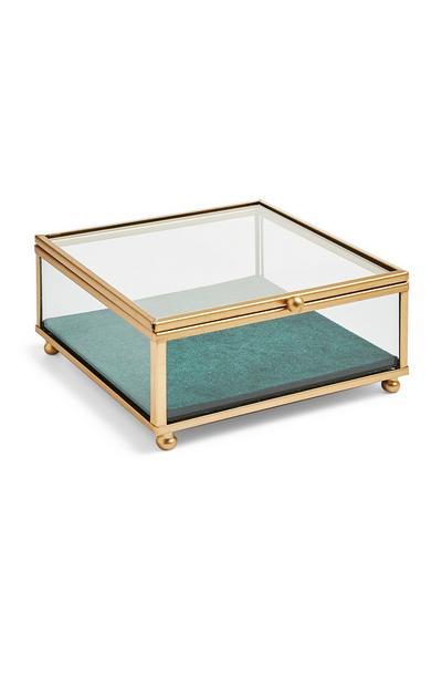 Green Velvet Base Jewellery Box