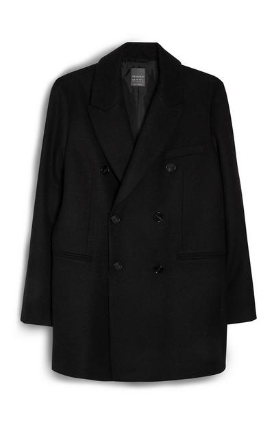 Black Double Breasted Blazer Coat