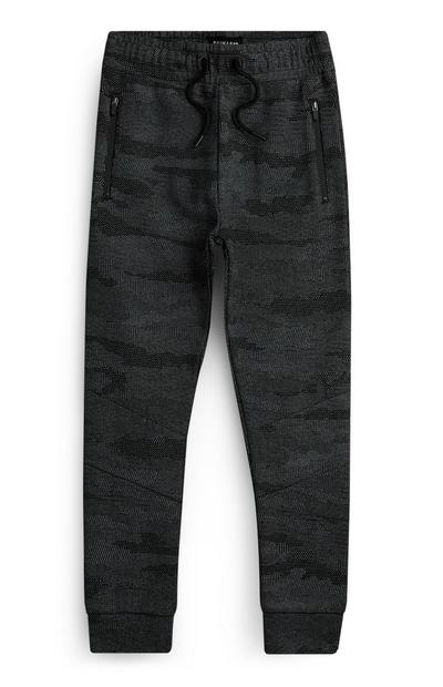Older Boy Grey Camo Joggers