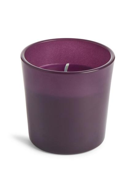 Mini Purple Glass Candle