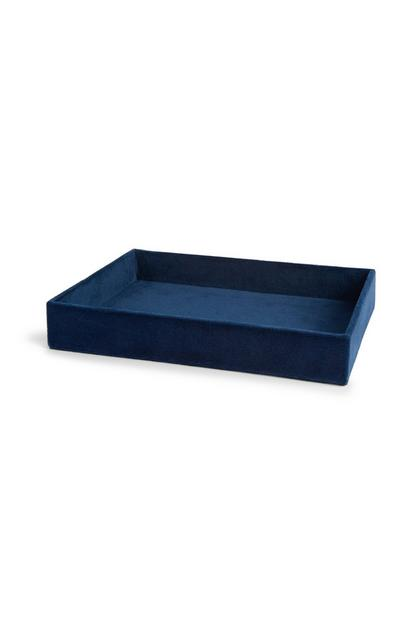 Navy Velvet Trinket Tray