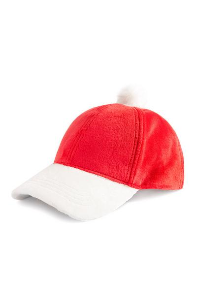 Red Santa Claus Cap