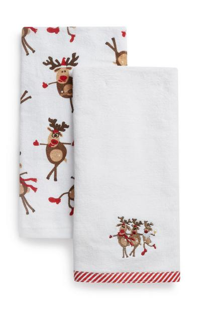Christmas Tea Towel 2Pk