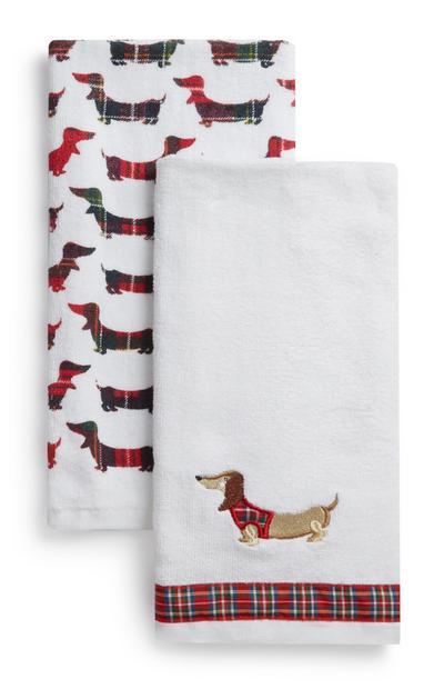 Christmas Tea Towel 2Pk