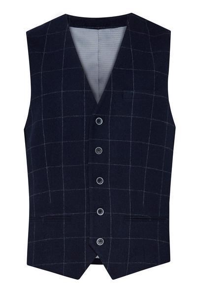 Navy Wool Waistcoat