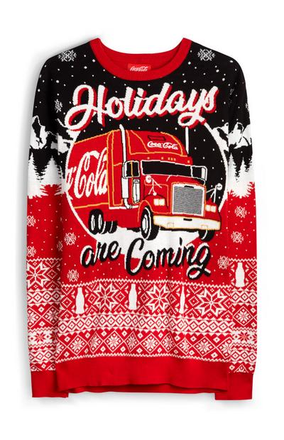 "Norweger-Pullover mit ""Coca Cola Holidays Are Coming""-Motiv"