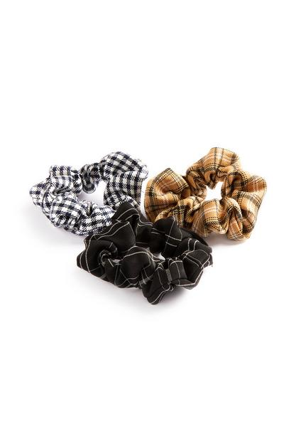 Check Scrunchie 3Pk