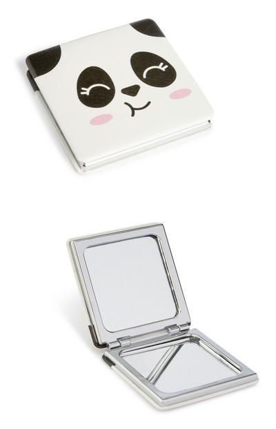 Taschenspiegel mit Panda-Print