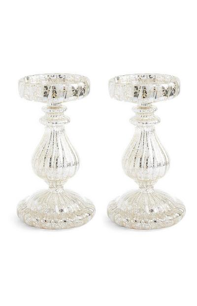 Pillar Candle Holders 2Pk