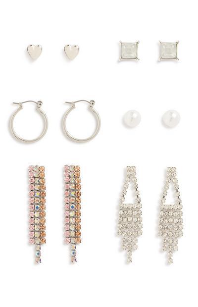 Chain Earring 6Pk