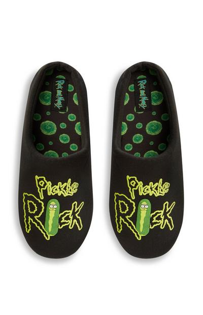 Black Rick And Morty Pickle Slippers