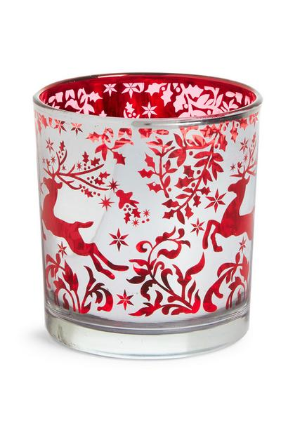 Christmas Glass Tealight Holder