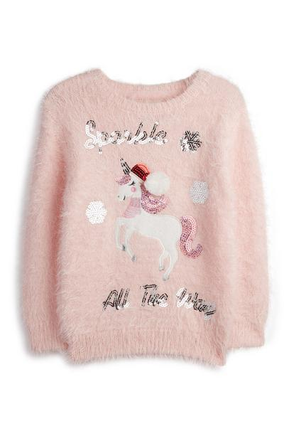 Younger Girl Unicorn Jumper