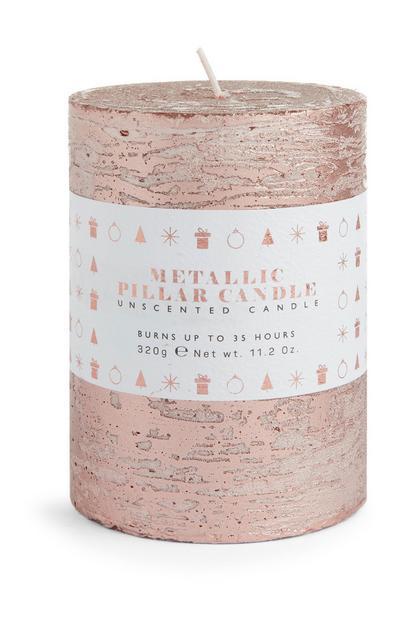 Pink Metallic Candle