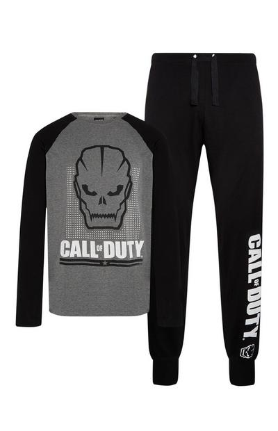 Grey Call Of Duty Pyjama Set 2Pc