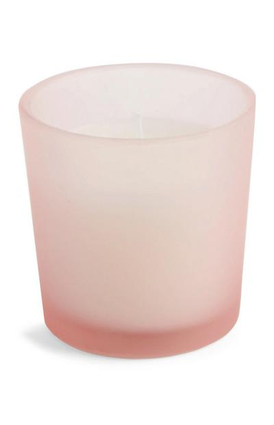 Pink Glass Candle