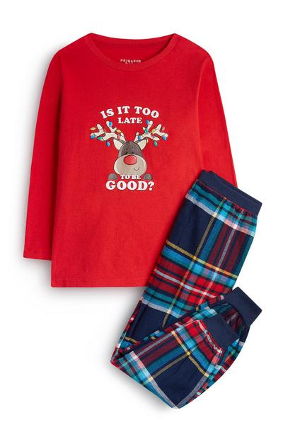 Younger Boy Rudolph Pyjamas
