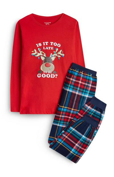 Older Boy Rudolph Pyjamas