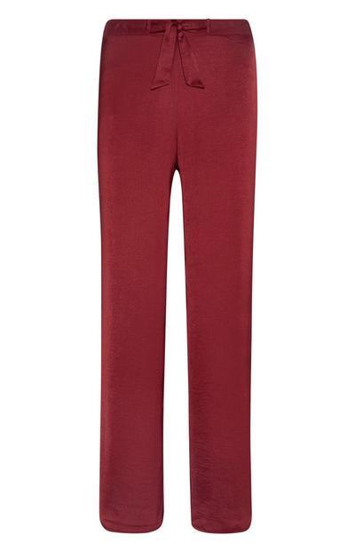Red Satin Leggings