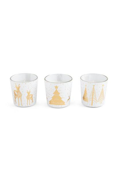 Christmas Mini Votive 3Pk