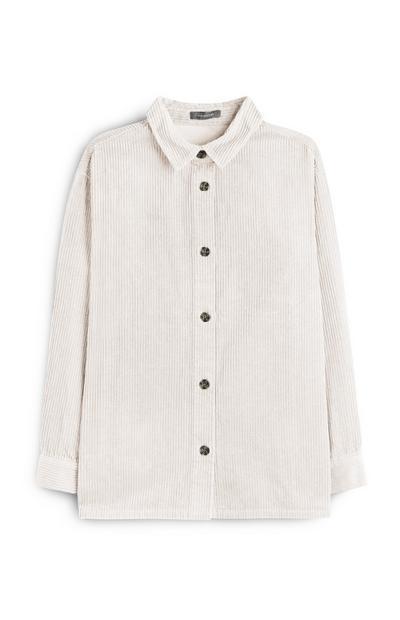 Ecru Chunky Corduroy Shirt