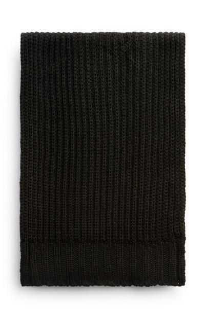 Black Chunky Knit Scarf