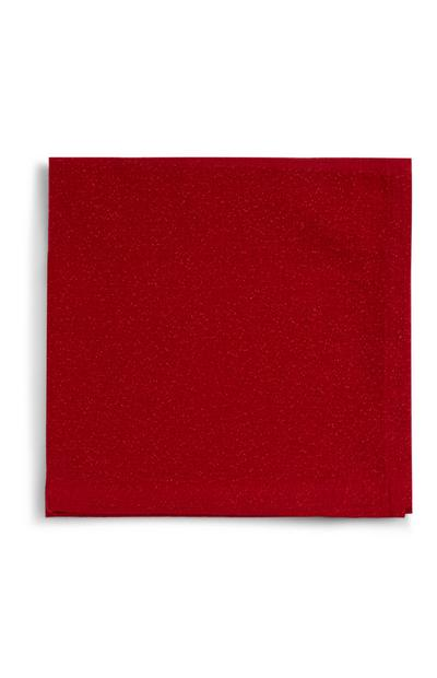 Red Glitter Christmas Napkins