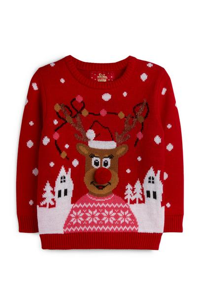 Younger Girl Reindeer Jumper