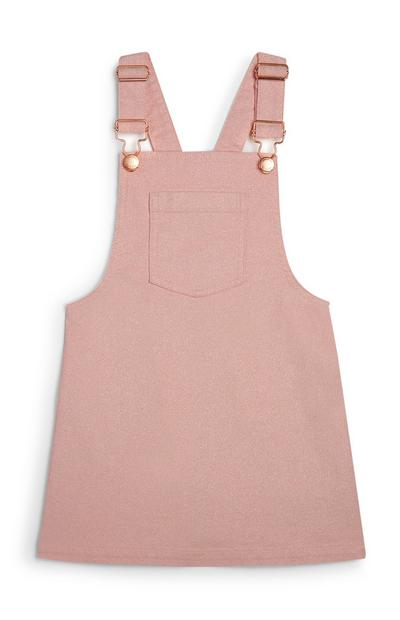 Younger Girl Pink Pinafore