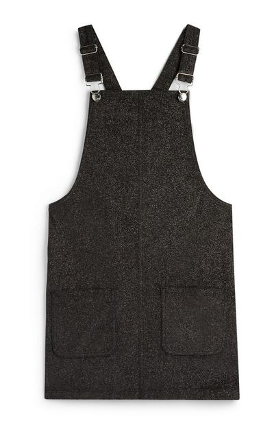 Older Girl Black Pinafore