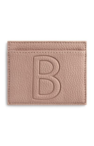 Letter B Cardholder