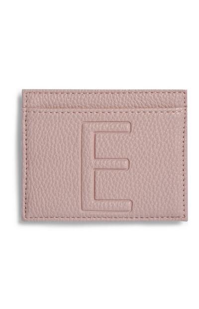 Letter E Cardholder