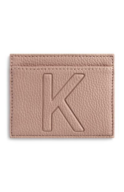 Letter K Cardholder