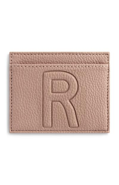 Letter R Card Holder