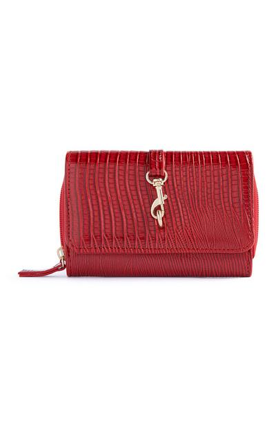 Red Clasp Detail Purse